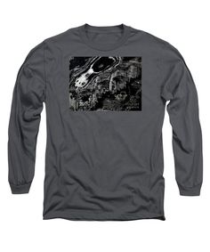 Black And White Photograph .not Manipulated Except To Become Black And White .very Dramatic Long Sleeve T-Shirt featuring the photograph Hog Fish Two by Expressionistartstudio Priscilla-Batzell