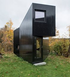 Modern Tiny Writing Cabin Built in Client's Backyard