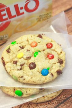 These are those cookies with pudding mix, chocolate chip morsels and m&m's - seriously to DIE for! And, the recipe makes 45 good sized cookies. This is my new go-to recipe!
