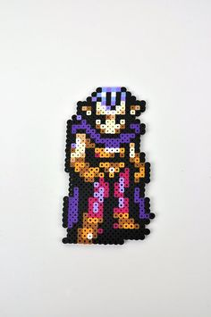 Magus from Chrono Trigger Magnet Perler Bead by TheCraftyChimera