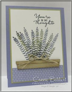 Flowering Fields, free Sale-A-Bration stamp set, Stampin' Up!, #stampinup…
