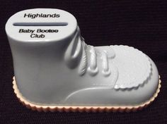 Vintage #Plastic #Baby Shoe #Coin Bank Highlands Child Placement #KansasCity