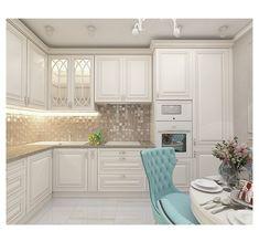 Kitchen in a apartment. The kitchen - Интерьер - Deneme 1 Kitchen Room Design, Kitchen Cabinet Design, Home Decor Kitchen, Kitchen Furniture, Interior Design Living Room, Sweet Home, Modern Kitchen Cabinets, Apartment Kitchen, White Decor