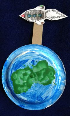 That's a pretty cool idea! Made by Hannah, 5 years old, Artist Of The Day on 05/22/2013 • Art My Kid Made #kidart #earth #space