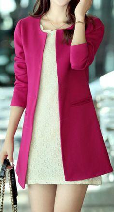 Magenta Blazer.  dresslily.com