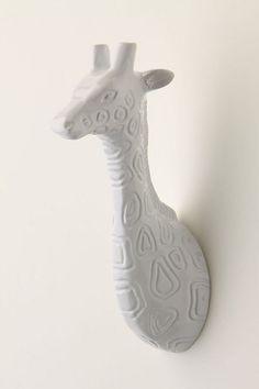 Ceramic giraffe hook - to go with my elephant hook. :)