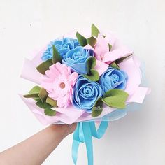 Would you still walk with me if i had a thousand crimes ?  . . Blue pink round Wedding bouquet