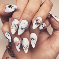 We spy triple the mystical vibes with this gorgeous manicure from @missorsanne using 3 of our nail decal sets -- our Sun & Moon set, Occult set, & Skulls & Roses set 💅💀 Have any of you used our nail decals before? Make sure to tag us or use the tag #LoveByLuna so that we can see your lovely work! ⠀  --⠀  In astrology today, Venus just entered Scorpio yesterday and will be in this sign until Dec 1st. Deeply passionate relations are the focus with Venus in Scorpio ♏️ Superficial flirtations…