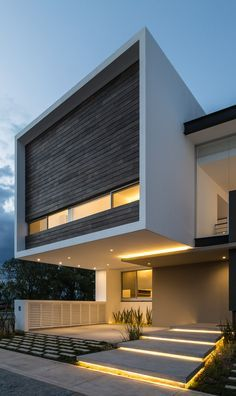 32 Ideas House Modern Exterior Architecture Beautiful For 2019 Modern Architecture House, Residential Architecture, Modern House Design, Interior Architecture, Contemporary Design, System Architecture, Duplex Design, Roman Architecture, Contemporary Houses