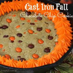 Try this Cast Iron Skillet Chocolate Chip Cookie recipe, or contribute your own. Skillet Chocolate Chip Cookie, Chocolate Chip Recipes, Chocolate Chip Cookies, Oatmeal Cookies, Cookie Recipes, Dessert Recipes, Appetizer Recipes, Sandwich Cake, Homemade Whipped Cream