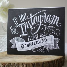 Wedding Instagram Hashtag Print - The Wedding of My Dreams