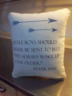 Peter Pan pillow baby boy throw pillow baby shower gift cotton canvas nursery cushion