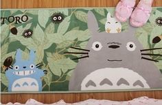 "Promising review: ""My daughters love Totoro. This rug is great to sit on top of the carpet right beneath my toddler's crib. She likes to squat over the rug and look at the characters. The picture on the rug is very clear. It's got the texture of those foam bath mats (soft memory foam). Never washed it so not sure how it would fare, but actual wear and tear has been good for the six months the girls have had it."" —Aimee GoldenPrice: $13"