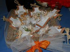 Il cestino con le bomboniere al pranzo della prima comunione di mio figlio Matteo