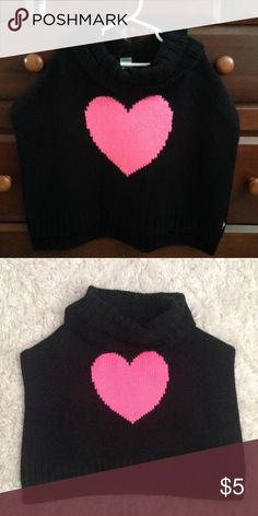 Carter's Poncho with Pink Heart Cozy black poncho with Pink heart💗 Never worn, my daughter outgrew Carters Dresses