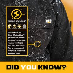 ‪#‎BuiltForIt‬ ‪#‎StormBlockerPlus‬ ‪#‎catapparel‬ ‪#‎workwear‬ ‪#‎DidYouKnow‬ #InternationalThursday