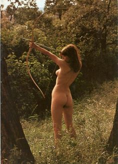Sexy nude female archers consider, that