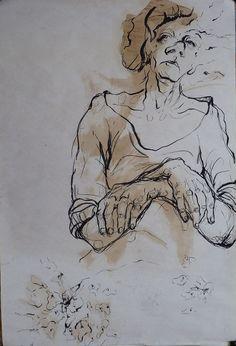 Resin and Charcoal on paper.100*70 cm - By Elahe Riyazat