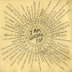Today is Day 1 of Gratitude Week and we want you to shout it out! Share what you're thankful for on Facebook, Twitter and Instagram with the hashtag #GUGratitude We love the gratitude cloud! Perfect exercise for your gratitude journal.