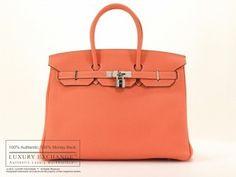 f99d344908 Authentic Hermes Birkin 35cm Bag NEW Clemence Crevette.  http://www.luxuryexchange