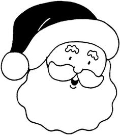 easy santa coloring pages printable - Coloring Page Nose