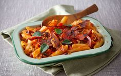 Pepper and Prosciutto Pasta Bake