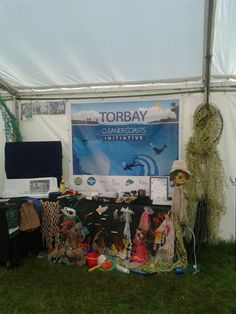 Our display at the Devon County Show made with beach litter -Torbay Cleaner Coasts Initiative
