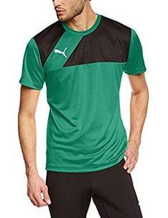 bf4159dab Puma Esquadra - Camiseta deportiva para hombre verde Power Green-Black  Talla:S: Amazon.es: Deportes y aire libre
