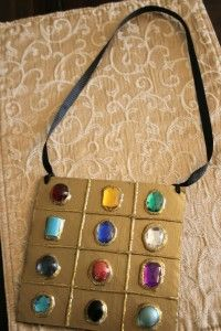 """""""How To"""" make a high priest breastplate Bible craft for VBS, Bible class, or a costume"""