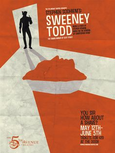 Sweeney Todd Play Poster