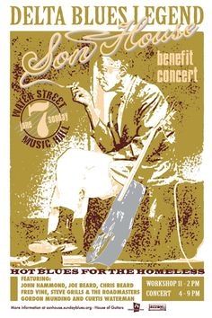 blues posters vintage | Big Road Blues Show 5/29/11: Preachin' The Blues – The World of Son ...