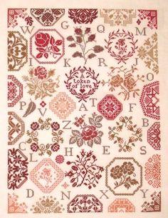 Stickideen von der Wiehenburg Rose Quaker - Cross Stitch Pattern. Model stitched on 28 or 30 ct fabric of your choice with DMC floss. Stitch Count: 251W x 331H.
