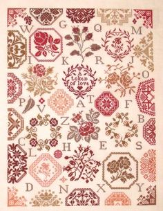 Rose Quaker - Cross Stitch Pattern