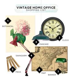 Vintage Home Office Accessories And Decor Ideas