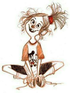 Cartoon Drawings, Cartoon Art, Art Drawings, Girl Cartoon, Character Design References, Character Art, Character Illustration, Illustration Art, Animation