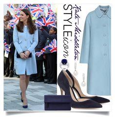 """Style Icon: Kate Middleton"" by karolineacc ❤ liked on Polyvore featuring Miu Miu, Gianvito Rossi, John Lewis, Belpearl, katemiddleton and styleicon"