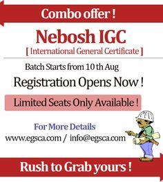 Nebosh International General Certificate Courses  Best Price In