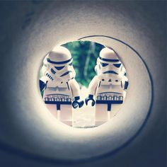 Photographer Andy Wells stages photos of 'Star Wars' Stormtrooper action figures and LEGO minifigures in funny situations.