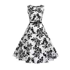 #Valentines #AdoreWe #RoseWholesale - #Rosewholesale 2018 Cotton Dress Monochrome Print Dress - AdoreWe.com