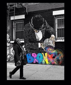Nick Walker in Bronx, NYC, 2018 Nick Walker, Bronx Nyc, Creative Art, Psychedelic, Murals, Supreme, Graffiti, Street Art, Play