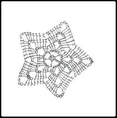 Crochet Granny Star - Chart ❥ // hf Con dos colores o perlas , para la navidad Crochet Star Blanket, Plaid Crochet, Crochet Diy, Crochet Stars, Crochet Snowflakes, Crochet Cross, Tapestry Crochet, Crochet Granny, Crochet Gifts
