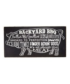 Another great find on #zulily! BBQ Pig Wall Sign #zulilyfinds