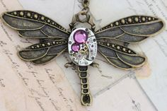 Steam Punk Dragonfly Jewelry