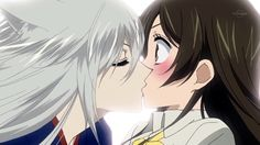Makes my fangirl heart sing,Tomoe and Nanami kissing
