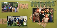 You gotta friend. Although the layout is pretty simplistic, I really like the use of twine & dog tags in the title of this layout. #summercamp #churchcamp #camp #friends #camping #dogtags #scrapbook #layout