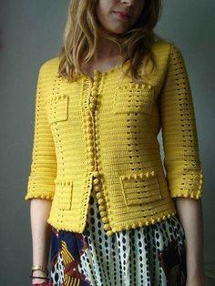 phildar design on ravelry. very chanel. - Chanel Cardigan - Ideas of Chanel Cardigan - phildar design on ravelry. very chanel. Gilet Crochet, Crochet Coat, Crochet Jacket, Crochet Cardigan, Crochet Clothes, Crochet Vests, Mode Crochet, Diy Crochet, Crochet Tutorial