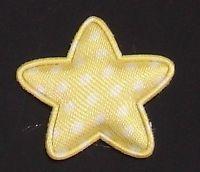 30 pcs Padded Felt STAR Dots Satin Appliques 25mm a074 U Pick