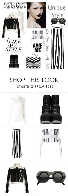 """""""I like my style!"""" by zabead ❤ liked on Polyvore featuring Courrèges, Marni, Alice + Olivia, Alex Perry, Giorgio Armani, H&M, LYDC and Kuboraum"""