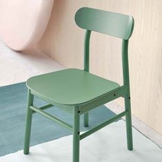 Add colour to the kitchen with products from IKEA like a green dining chair, bold kitchen doors in blue and black, and a red and blue tray. Table And Chairs, Dining Chairs, Dining Table, Solid Pine, Solid Wood, Table Extensible, Green Table, Under The Table, Swedish Design