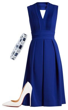 """Без названия #52"" by koskerina ❤ liked on Polyvore featuring Preen and Christian Louboutin"